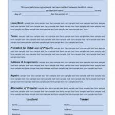 free lease agreement word doc free lease agreement template word doc image rental lease