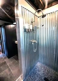 s interis metal shower walls corrugated sheet waterpro