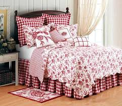 Country Quilt Baby Bedding Primitive Country Quilts Bedding Red ... & Country Quilt Baby Bedding Primitive Country Quilts Bedding Red Toile And  Check Bedding Country Bedspread Quilts Adamdwight.com