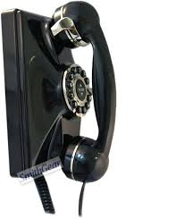 1930 retro replica wall phone black