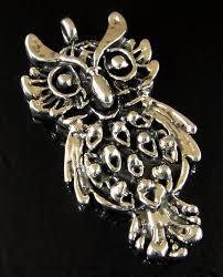 handmade 925 sterling silver detailed owl pendant