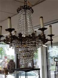 beautiful antique 9 light wedding cake waterfall australian crystal chandelier