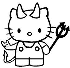 The article includes black and white diagrams of kittens in their cartoon and lifelike form. Hello Kitty Halloween Coloring Pages Coloring Pages
