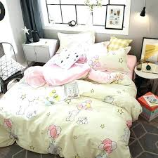 bunny baby bedding simple style bedding set bunny and balloon print cotton fabric queen size duvet
