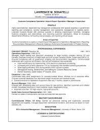 Resume Samples For Logistics Management Specialist New Logistics