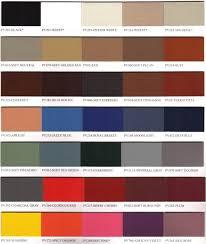 Vinyl Upholstery Color Chart