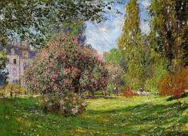 off hand made oil painting reion of the parc monceau paris one of the most famous paintings by claude oscar monet in spring of claude oscar monet