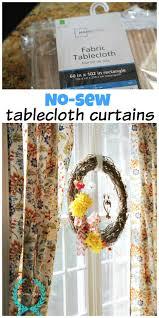No Sew Curtains No Sew Tablecloth Curtains Debbiedoos