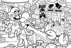 Super Mario Bros 3 Coloring Book Simplesnackstop