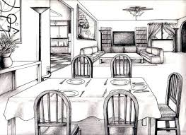 Perspective Room Drawing One Point Perspective Of A Kitchen One Point  Perspective Living Room Drawing Inspiration . Perspective Room ...