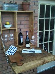 diy outdoor bar station 9