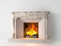 classic marble fireplace 02 3d model