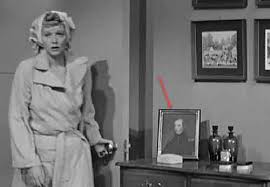 Delightful Biddle Scully. A Framed Military Portrait Is Seen Above In The Bedroom Set  Of I Love Lucy ...