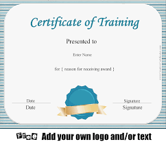 Training Certificate Free Certificate of Training Template Customizable 1