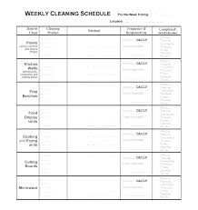 Examples Of Cleaning Schedules Sample Cleaning Checklist 7 Documents In Word Household