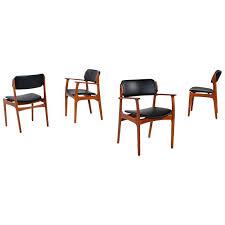 reupholster dining room chair elegant erik buck model od 49 teak dining chairs by o d m