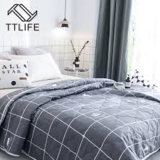 ttlife 2018 new bedding flamingo summer quilt blankets cartoon comforter bed cover quilting home textiles suitable