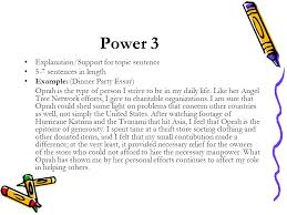power writing power  introduction background information    power  explanationsupport for topic sentence   sentences in length example