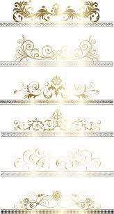 gold frame border vector. Modren Gold Floral Gold Ribbons Borders Vector Set In Frame Border Vector