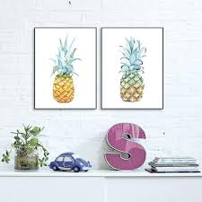 pineapple wall art golden yellow pineapple canvas art print poster pineapple wall pictures for home decoration pineapple wall art