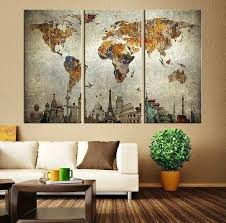 large retro wall art best vintage world maps ideas on las watches with regard to large