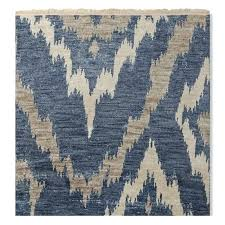 river hand knotted rug blue grey ikat west elm review