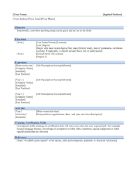 chronological resume template com resume template chronological microsoft word objective