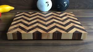 Handcrafted Chevron-pattern cutting board