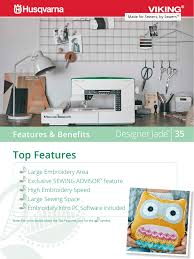 Jade 35 Embroidery Designs Top Features Features Benefits Manualzz Com