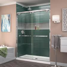 dreamline encore 56 in to 60 in w semi frameless chrome sliding shower