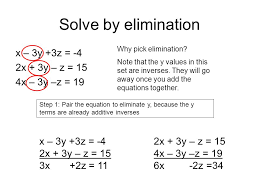 3 solve by elimination