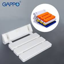 gappo wall mounted shower seats shower folding seat wall mounted white stool toilet chair for elderly