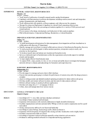 Bioinformatics Resume Sample Scientist Bioinformatics Resume Samples Velvet Jobs 12