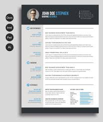 Word Resume Layout Free Microsoft Word Resume And Cv Template For Photoshop