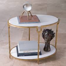 Iron And Stone Coffee Table Global Views Furniture Iron Stone Side Table