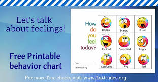 Free Feelings Chart How Do You Feel Today Colorful Acn