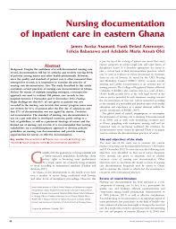 Nursing Charting Guidelines Pdf Nursing Documentation Of Inpatient Care In Eastern Ghana