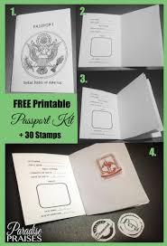 Free Passport Template For Kids Stunning Free Printable Passport Stamp Activity Paradise Praises