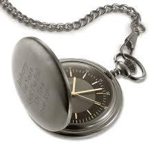 engraved pocket watches at things remembered satin gunmetal pocket watch