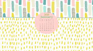 January 2020 Desktop Calendar Wallpaper ...