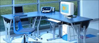 Desktop computer furniture Space Saving Oblivious Signal Health Educational Equipment Corp Computer Furniture