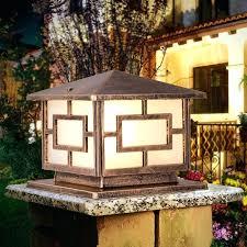 outdoor fence lighting waterproof aluminium casting pillar lamp door column light square outdoor fence lights