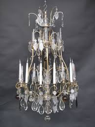 12 arm french cage chandelier ca 1860