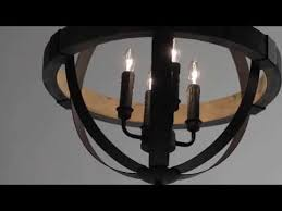 for castello black and aspen wood four light 20 inch wide chandelier