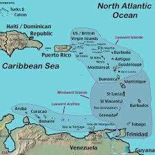 Caribbean Islands Comparison Chart Windward Islands Map Leeward Islands Map Satellite Image