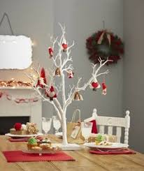 White Decorative Twig Display Tree 76 cm Home Decor Wired Rubber Branches