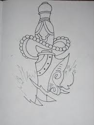 old dagger outline by armada27