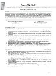 Senior Accountant Sample Resume Resume For Senior Accountant In ...