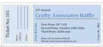 Fundraiser Ticket Templates Printable Raffle Ticket Templates Ive