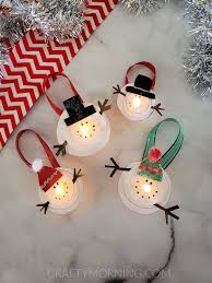 Craft Projects Using The T Light Candles Melted Snowman Tea Light Ornaments Crafty Morning